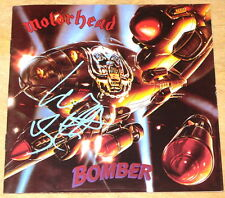 LEMMY KILMISTER MOTORHEAD BOMBER SIGNED CD ALBUM SLEEVE UACC REGISTERED DEALERS