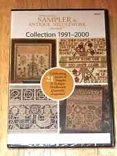 New!! SAMPLER & ANTIQUE NEEDLEWORK QUARTERLY 1991-2000 on DVD Decade of issues