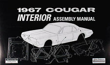 1967 Mercury Cougar Interior Assembly Manual 67 Door Panels Trunk Seats Belts