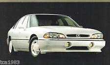 BIG 1993 PONTIAC Brochure: Grand Prix, Grand Am, LeMans, SSEi, Bonneville,