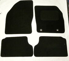 Tailored Black Velour Carpet Car Mats For Ford Focus 2005 - 2011 Set of 4 B2258