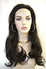 Darkest Brown Brunette Long Straight Wigs