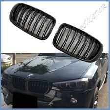For 2015 2016 2017 BMW F26 X4 SUV Painted Shiny Black Double Ribs Front Grille