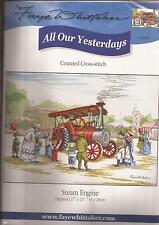 "Counted Cross Stitch All Our Yesterdays Steam Engine 11"" x 17"" (076-07)"