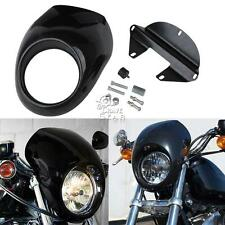 Front Headlight Fairing Mask For Harley Davidson Dyna Glide Fat Bob Street Bob