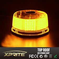 240 LED Flash Strobe Rotating Round Beacon Rooftop Emergency Light AMBER