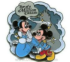 DISNEY PIN YEAR OF A MILLION DREAMS CLOUDS MINNIE AND MICKEY CASTLE CINDERELLA