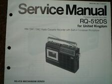 PANASONIC RQ-512DS Radio Cassette Recorder Service manual wiring parts diagram