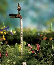 NEW Solar Powered Water Stake Yard Outdoor Garden Decor Dusk To Dawn Light