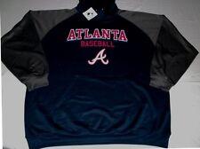 Atlanta Braves Synthetic Hoodie 3XL Navy Atlanta Baseball Logo Majestic MLB