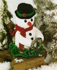 CUTE Snowman Centerpiece/Decor/Crochet Pattern INSTRUCTIONS ONLY
