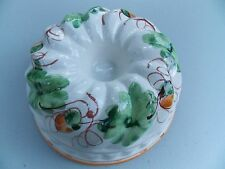 Ceramic Decorative Kitchen Gelatin Mold/wall hanging, Italy, Hand-Painted