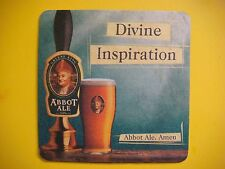 Beer Bar Coaster: Abbot Ale ~ Divine Inspiration ~ Greene King ~ Suffolk Brewery