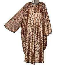DMI Sleeved Leopard Print Cape, Professional Hairdressing Gown, Water Resistant