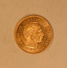 1900 Denmark gold 10 Kroner Mermaid coin for Christian IX