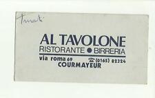 133336 biglietto da visita al tavolone ristorante birreria courmayeur