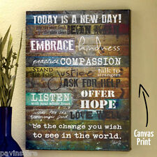 Marla Rae Inspiration Wall Art Canvas Print Handcraft Vintage Wooden Frame Home