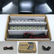 2X 9 LED Car DRL Super Bright Driving Daytime Running Fog Light Head Lamp 12V