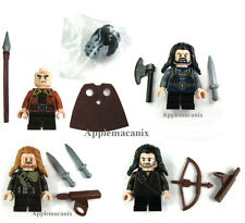 NW LEGO Hobbit THORIN BIFUR FILI KILI MINIFIGS Dwarves LOT OF 4 79001 79002 ORCS