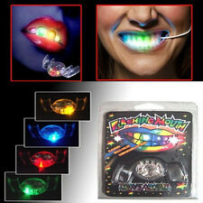 4 Color LED Light Flashing Mouth Teeth Guard Piece Gadget Filler Party Glow Gift