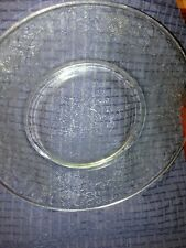 """10"""" Depression Glass Clear Dinner Plate"""