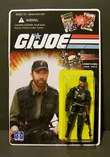 "Custom GI Joe figure and package of "" LONE WOLF""   ""chuck norris"""