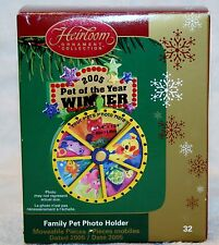 Carlton Card 2005 Pet of the year Family Photo Holder Christmas ornament cat dog