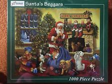 SANTA's BEGGARS Vermont Christmas Jigsaw Puzzle 1000 Piece  from USA - Last 1*