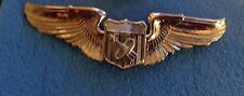 UNITED STATES AIR FORCE ,ASTRONAUT BADGE, BASIC, FULL SIZE, ANODIZED,STAY BRITE