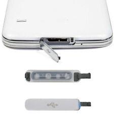 FÜR Samsung-Galaxie S5 Ersatz USB PORT Abdeckklappe Noble Silber Chic New