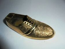 Rare Vintage Brass Ashtray Shoe Design Engraved Home Decor Christmas Gifts India