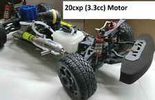 Large Nitro gas Rally RC Car 1/10 Scale 4WD 20cxp(3.3cc) MotorGlow starter Black