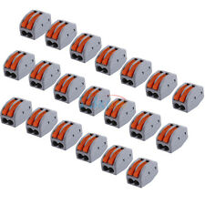 20pcs 2 pin - Universal Reusable Terminal Block Electric Cable Connector Wire AM