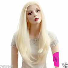Blonde Long Straight Lace Front Wig Hair Heat Resistant New Cosplay Wig