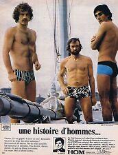 Publicité Advertising 016 1972 Hom sous-vêtements