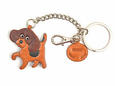 Beagle Handmade 3D Leather Dog Keychain Bag/Ring Charm VANCA Made in Japan 26056
