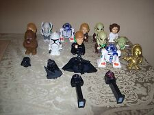 VARIETY OF STAR WARS FIGURINES WITH TWO PEZ DISPENSERS