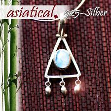 925-SILBER PYRAMIDE TÜRKIS ANHÄNGER Amulett Dreieck Silber - SCHMUCK Indianer