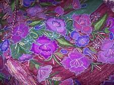 Hand Woven on back loom Maya Tzotzil embroidered shawl Zinacatan Chiapas Mex