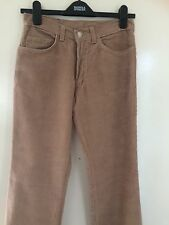 "VINTAGE 70s REPRO BEIGE CORDS DEAD STOCK BUTTON FLIES FRONT POCKETS 30"" WASTE"