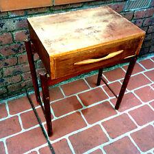 Retro Mid Century Fler Eames Era Bedside Cabinet Side Table Vintage Solid Teak