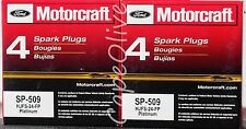 8 PCS – Motorcraft SP-509 Double Platinum Spark Plugs (HJFS-24FP) for Ford Linco