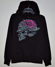 NWT Womens METAL MULISHA Black Pullover Fleece Moto Hoodie Sweatshirt - Size S