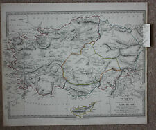 Original antique map, ANCIENT ASIA MINOR, CYPRUS, SALAMIS, SDUK, 1830