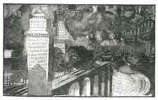 MODERNE STADT 1929 - Edy LEGRAND - Original Holzschnitt Probeabzug von HolzStock