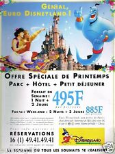 Publicité advertising 1994 Euro Disneyland Paris...Aladin