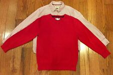 OLD NAVY/CHEROKEE boys matching shirt and sweater set~size 6/7 EC:)