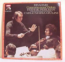 """33T BRAHMS Disque LP 12"""" CONCERTO VIOLON PERLMAN GIULINI Classique EMI 069-02899"""