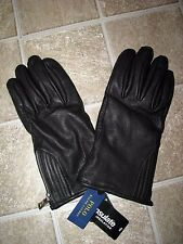Men's $135 (L) POLO-RALPH LAUREN Thinsulate DEERSKIN Leather Gloves (Zipper)