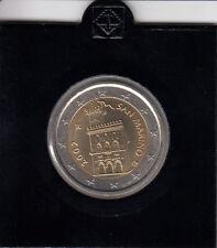 San Marino 2 Euro 2002 Kursmünze bankfrisch - in Münzrähmchen